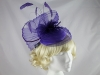 Failsworth Millinery Purple Events Headpiece